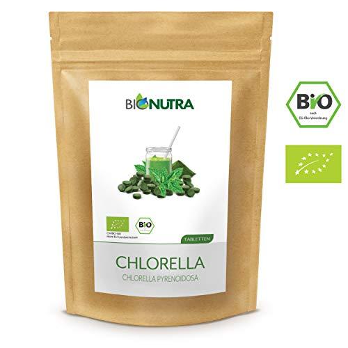 BioNutra Chlorella-Presslinge Bio 1000 x 250 mg Tabletten, 100% rein &...