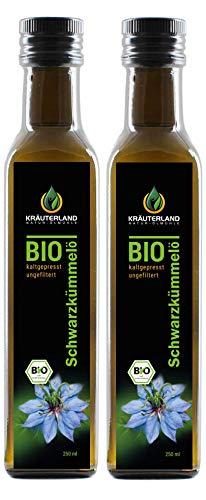 Kräuterland - Bio Schwarzkümmelöl ungefiltert - 500ml (2x250ml) -...