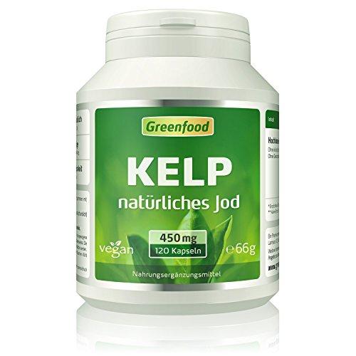 Kelp, 450 mg, 120 Vegi-Kapseln – natürliches Jod (100% Tagesbedarf)...