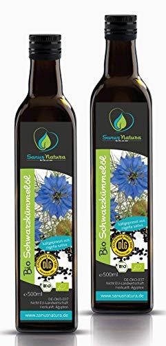 Sanus Natura Bio Schwarzkümmelöl 1000 ml (2x 500ml) Ungefiltert...