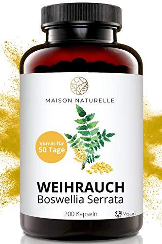 MAISON NATURELLE® - Weihrauch Extrakt Kapseln (200 Stück) -...