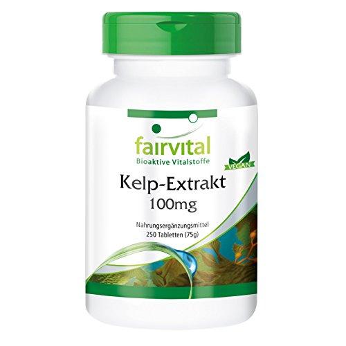Kelp Tabletten - 150mcg natürliches Jod aus Braunalgen Extrakt -...