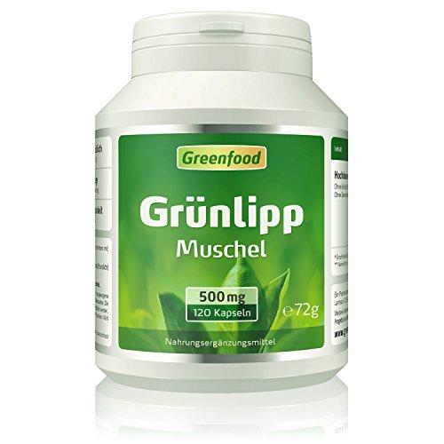 Grünlippmuschel, 500 mg, hochdosierter Extrakt, 120 Vegi-Kapseln –...