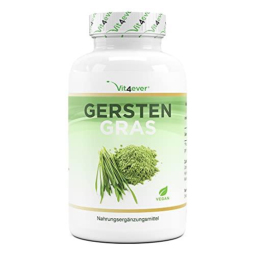 Gerstengras - 365 vegane Kapseln - Hochdosiert mit 1500mg je...