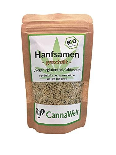 CannaWelt Bio Hanfsamen - geschält - Für die kalte und warme Küche...