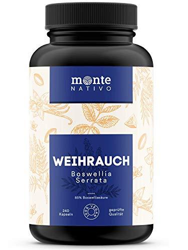 Weihrauch Extrakt MonteNativo – 240 Kapseln (85% Boswelliasäure) |...