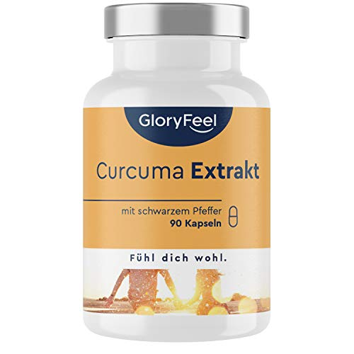 Curcuma Extrakt (95%) plus Bio Curcuma Pulver - 90 vegane Kapseln (3...