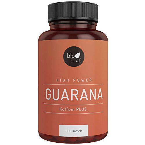 Guarana Kapseln Koffein PLUS - Kraftvoll & Effektiv - High Power...
