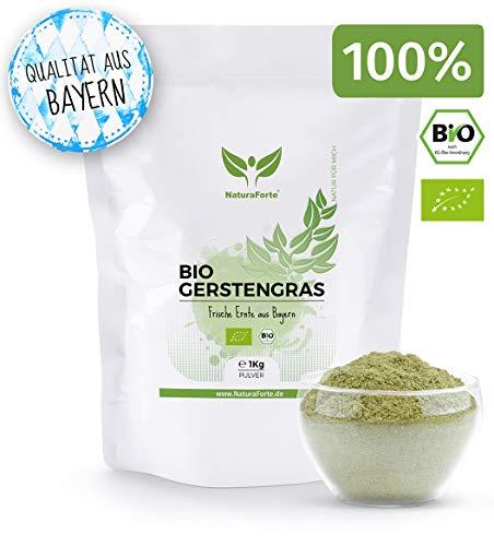 NaturaForte Bio Gerstengras Pulver 1kg - Vitamin K, Rein, Gemahlen &...