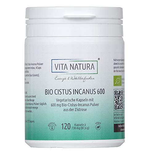 Vita Natura Cistus Incanus Bio 600 mg Vegikapseln, 1er Pack (1 x 120...