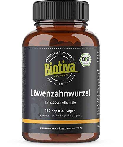 Biotiva Löwenzahnwurzel Bio 150 Kapseln - 450mg...