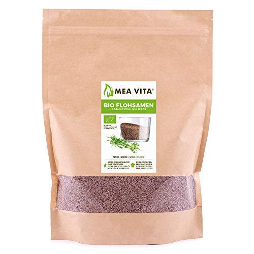 MeaVita Bio Flohsamen, 99% rein, 1000g im Beutel Premium Qualität aus...