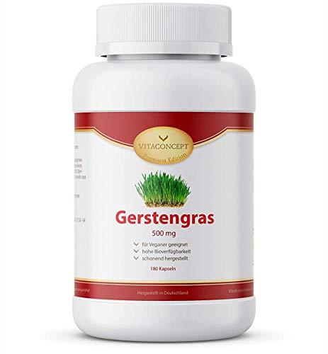 Gerstengras Kapseln I 1500 mg Gerstengraspulver pro Tagesportion I 180...