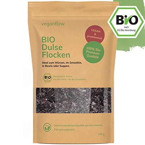 veganflow® Premium Dulse Flocken Bio aus dem Atlantik, Rotalgen...