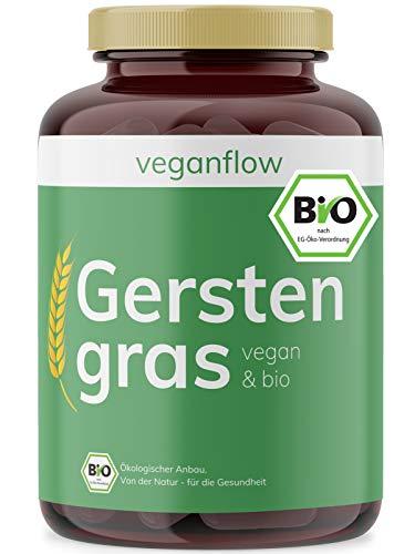 veganflow® Premium Bio Gerstengras-Kapseln, 180 Kapseln (vegan) je...