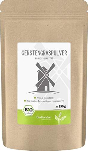 BIO Gerstengraspulver 250g | Gerstengras gemahlen | 100% naturrein |...