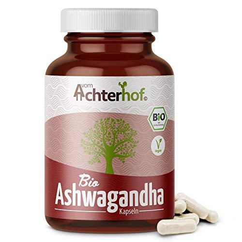 Ashwagandha Kapseln BIO (150 Stück) | 500 mg pro Kapsel | indischer...