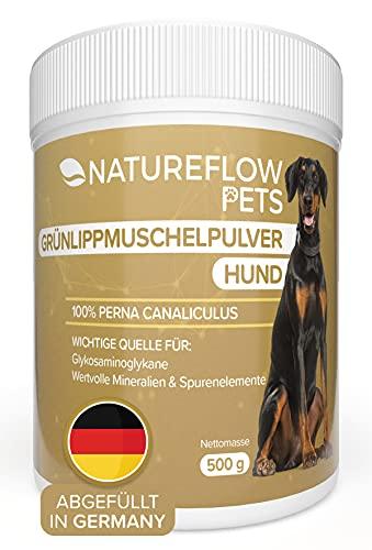 NATUREFLOW Natürliches Grünlippmuschelpulver Hund - 500g...