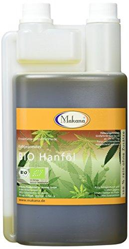 Makana BIO Hanföl für Tiere, kaltgepresst, 100% rein, 1000 ml...