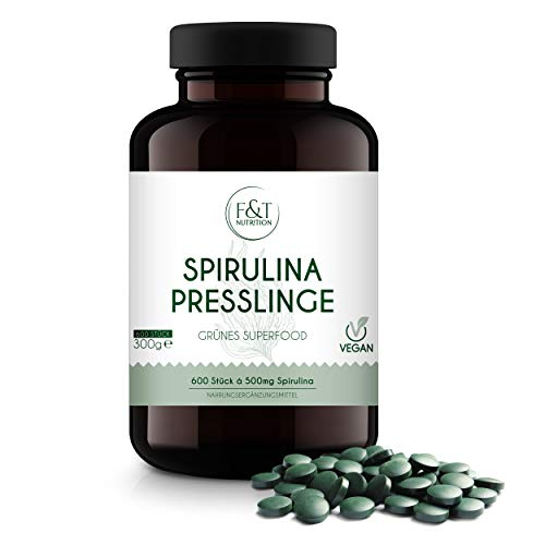 F&T Nutrition Bio Spirulina Presslinge – 600 Spirulina Bio...