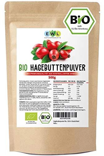 Hagebuttenpulver Bio 0,5 kg Bio Hagebuttenpulver | Ganze gemahlene...