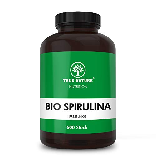 TRUE NATURE® Bio Spirulina Presslinge - 600 Tabletten mit je 500mg -...