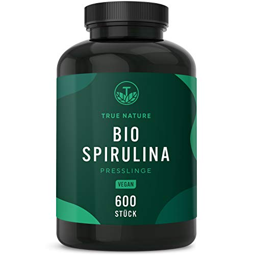 TRUE NATURE® Bio Spirulina Presslinge - 600 Tabletten je 500mg -...