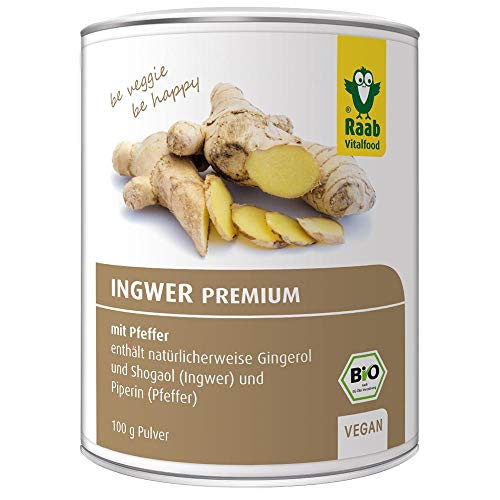 Raab Vitalfood Bio Ingwer-Pulver Premium mit Pfeffer, vegan, enthält...
