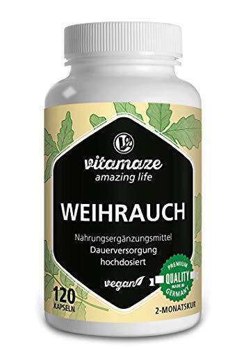 Weihrauch Kapseln hochdosiert & vegan, 900 mg Extrakt pro Tagesdosis,...