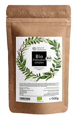 Bio Flohsamenschalen - Premium Qualität: Laborgeprüft, 99+%...