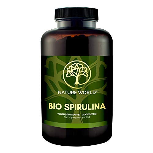 NEU! BIO SPIRULINA von NATURE WORLD®, 100% reine Spirulina Tabletten...