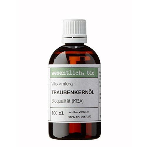 Traubenkernöl BIO kaltgepresst 100ml (Vitis Vinifera Seed Oil) von...