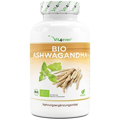 Original Bio Ashwagandha - 365 Kapseln - Hochdosiert mit 1950mg je...