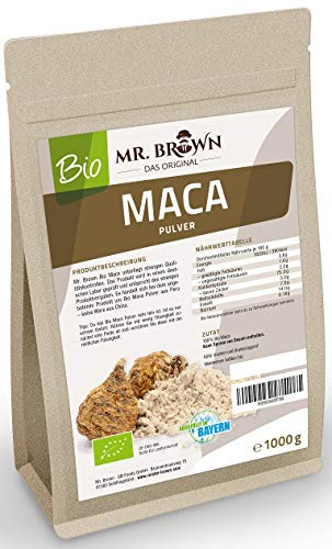 Mr. Brown BIO Maca Pulver aus Peru | Premium Qualität | abgefüllt in...