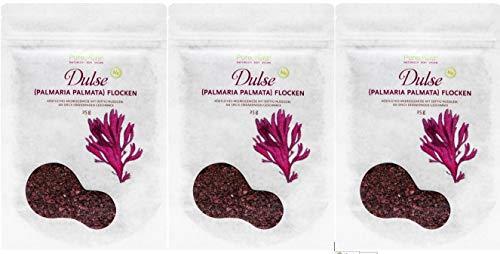 PureRaw Dulse-Flocken Lappentang (bio, roh, vegan) Rotalge Palmaria...