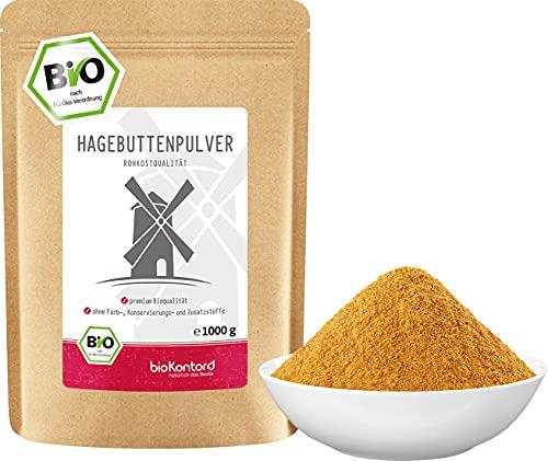 Hagebuttenpulver BIO 1000 g (1 kg) I Hagebutten vermahlen   100%...