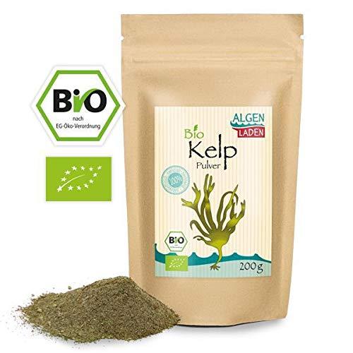 ALGENLADEN BIO Kelp Pulver - 200g | natürliches Jod | Kelp aus dem...