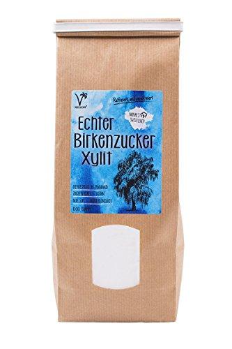 Kräuterladen Echter Birkenzucker (Xylit), natürlicher Zuckerersatz...