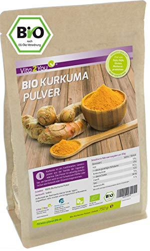 Kurkuma Pulver Bio 750g - Rohkost-Qualität - natürliches Kurkumin -...