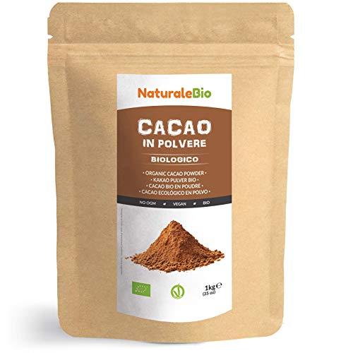 Kakao Pulver Bio 1 Kg. Organic Cacao Powder. 100% Natürlich, Rein aus...