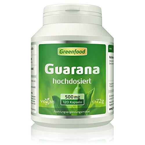 Guarana, 500 mg, hochdosierter Extrakt (4:1), 120 Vegi-Kapseln –...