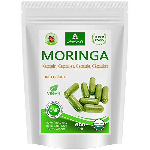 Moringa Kapseln 600mg oder Moringa Energy Tabs 950mg – Oleifera,...