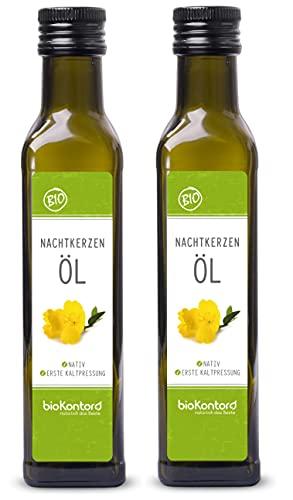 Bio Nachtkerzenöl 500ml (2x 250ml) nativ und kaltgepresst I 100% rein...