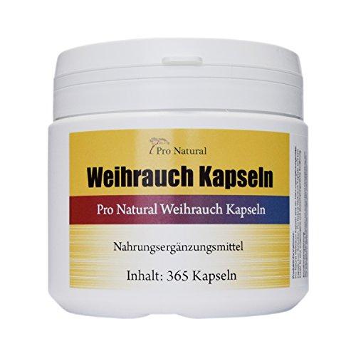 Weihrauch Kapseln hochdosiert 450mg - 365 Kapseln (vegetarisch),...