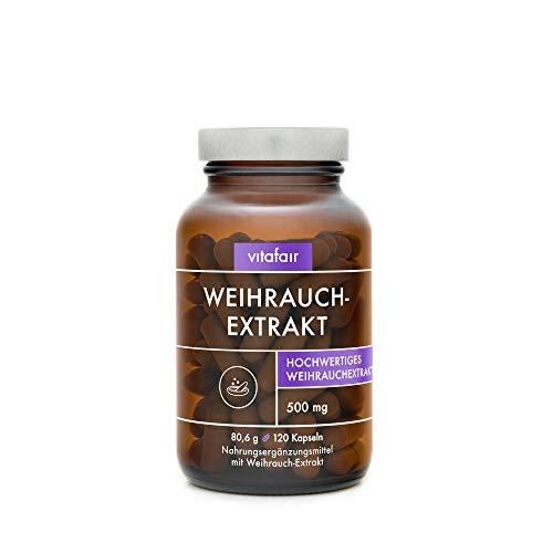 VITAFAIR Weihrauch Extrakt 500mg (Boswellia Serrata) - Vegan,...