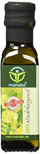 manako BIO Nachtkerzenöl, kaltgepresst, 100% rein, 100 ml Glasflasche...