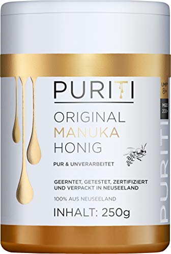 PURITI Manuka-Honig MGO 200+ 250g aus Neuseeland - zertifiziert,...