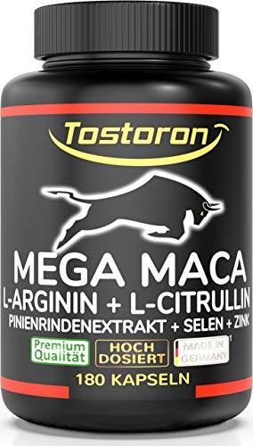 Tostoron MEGA MACA extra stark + hochdosiert - 180 Kapseln Maca...