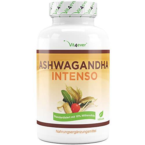 Ashwagandha - 180 Kapseln mit 750 mg reinem Extrakt - Premium: 10%...
