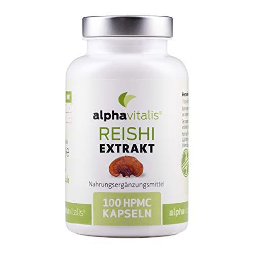Reishi Extrakt - 100 vegane Kapseln - laborgeprüft - 500 mg Ganoderma...